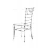 Svatební židle CHIAVARI TIFFANY průhledný