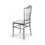 Svatební židle CHIAVARI PRINCESS STŘÍBRNÝ