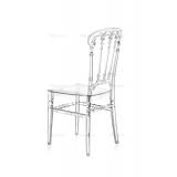 Svatební židle CHIAVARI QUEEN PRŮHLEDNÝ