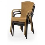 Židle pro pivní zahrádky ANDREA caffe latte