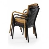 Židle pro pivní zahrádky ANDREA antracit nergra
