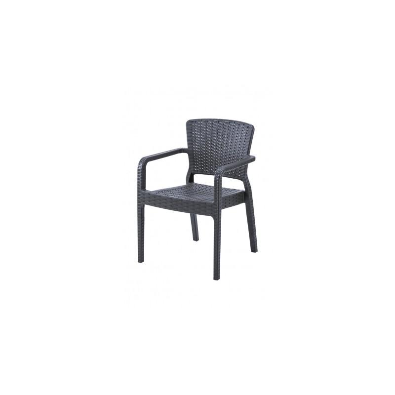 Židle pro pivní zahrádky VITO antracit nergra