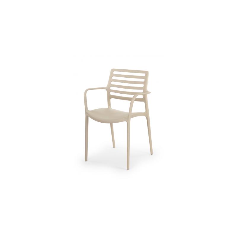 Židle pro pivní zahrádky LUCA béžová
