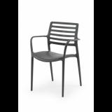 Židle pro pivní zahrádky LUCA antracit