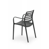Židle pro pivní zahrádky LUCA antracit nergra