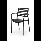 Židle pro pivní zahrádky LUCA černá