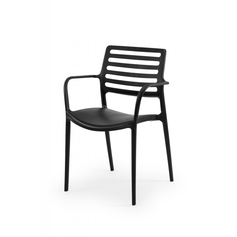 Židle pro pivní zahrádky LUCA antracit negra