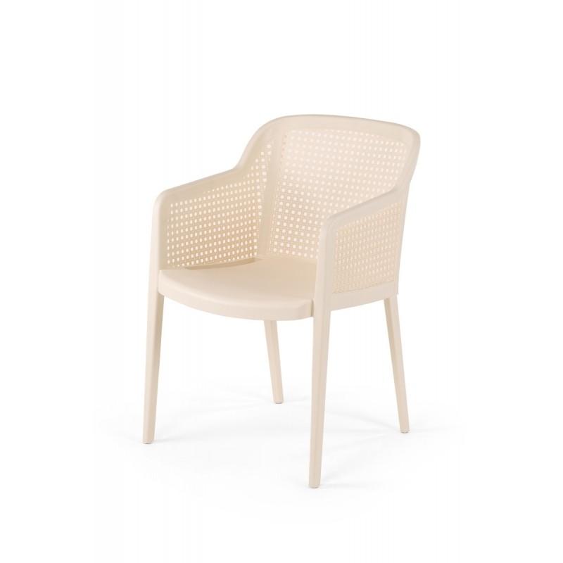 Židle pro pivní zahrádky CARLO krémová