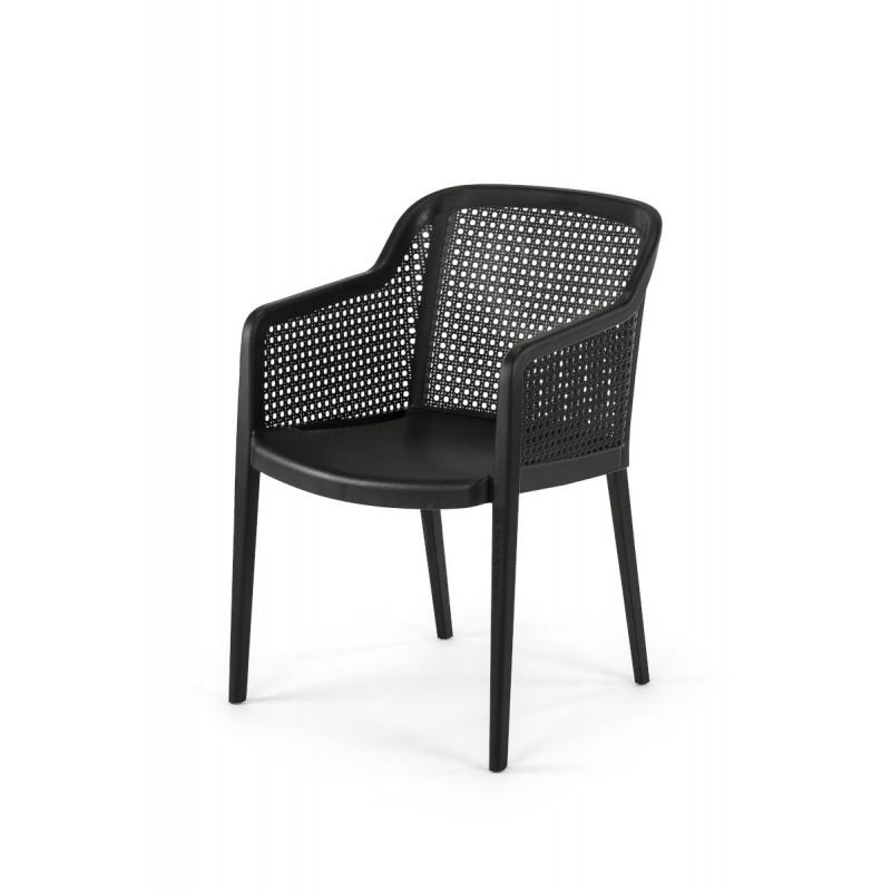 Židle pro pivní zahrádky CARLO černá
