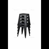 Stolička PARIS inspirovaná TOLIX s dřevěným sedákem