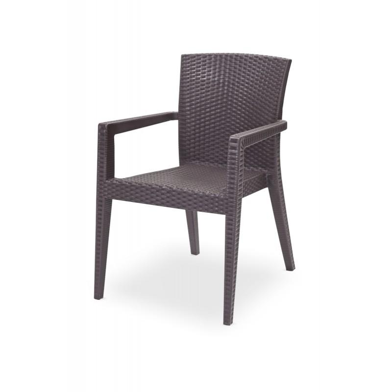 Židle pro pivní zahrádky MARIO hnědá