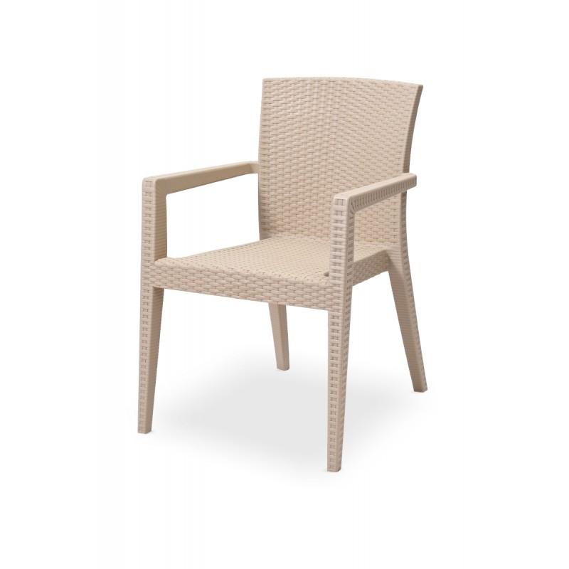 Židle pro pivní zahrádky MARIO cappuccino