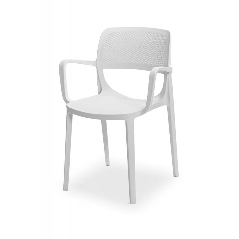 Židle pro pivní zahrádky NICOLA bílá