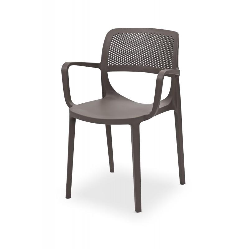 Židle pro pivní zahrádky NICOLA  pískově šedá