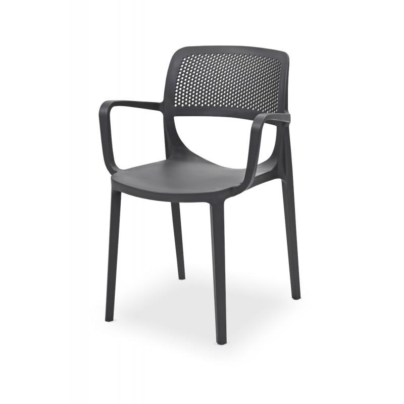 Židle pro pivní zahrádky NICOLA antracit