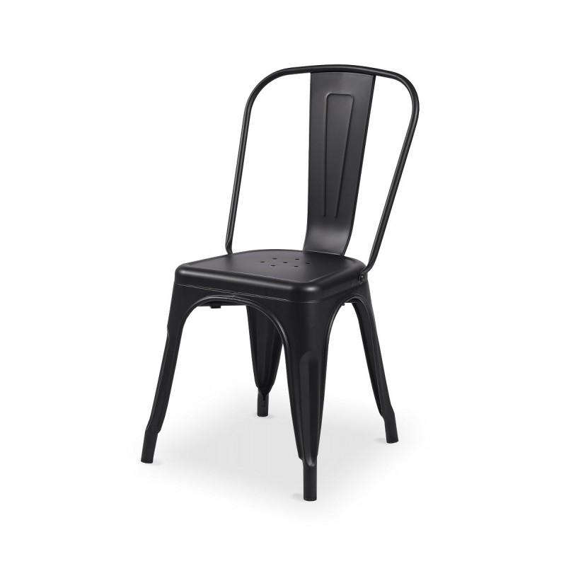 Barová židle PARIS inspirovaná TOLIX čierny mat