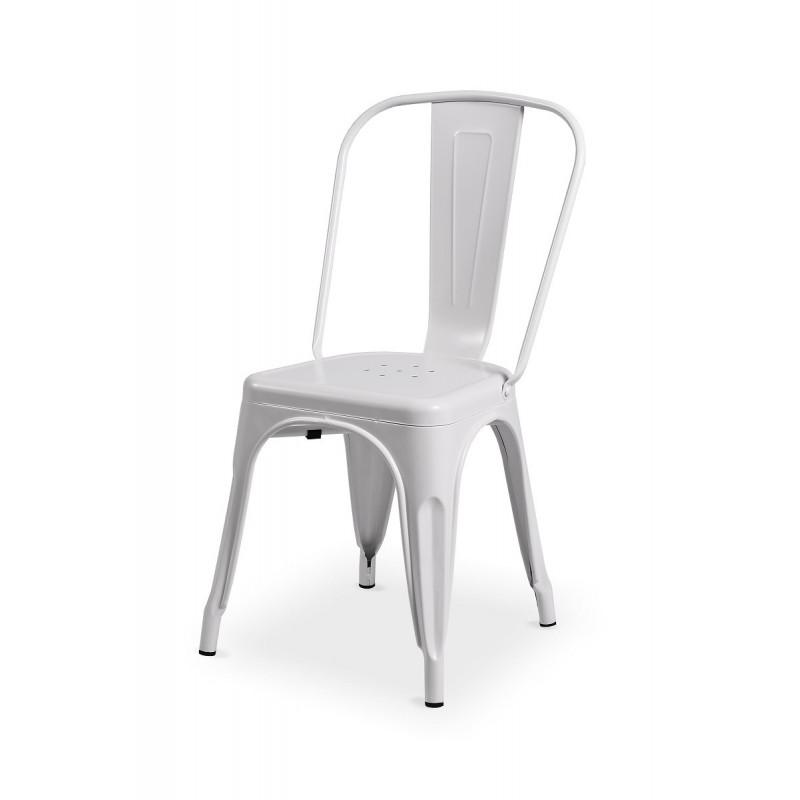 Barová židle PARIS inspirovaná TOLIX bílý mat
